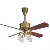 Casablanca 19th Century Ceiling Fan in Burnished Brass Finish