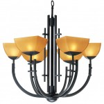 Access 26126-ABRZ/AMB Six Light Bronze Up Chandelier