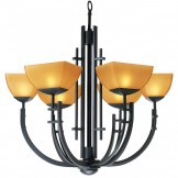 Access 26126-ABRZ/AMB Six Light Bronze Up Chandelier